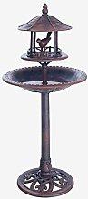linoows Bebedero para pájaros de estilo antiguo,