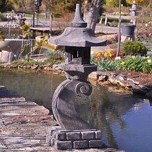 Linterna japonesa de piedra de lava 90 cm lámpara