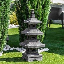Linterna japonesa pagoda de piedra de lava 80 cm