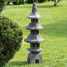 Linterna japonesa pagoda de piedra de lava jardín
