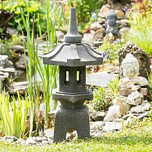 Linterna japonesa pagoda zen de piedra de lava 80