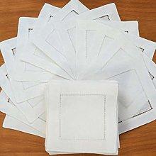 LINWX 12 Piezas servilletas de Lino dobladas