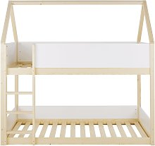 Litera casita infantil bicolor 90 x 190 cm