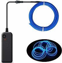 LITZEE - Cable EL portátil, batería, luces de