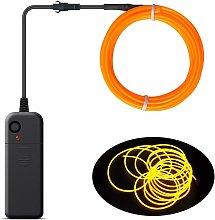 LITZEE - Cable EL portátil, luces de neón con