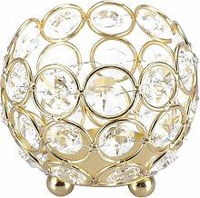 LITZEE Candelabro de cristal decorativo