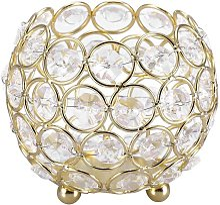 LITZEE - Candelabro de cristal para decoración,