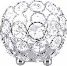 LITZEE Candelabro de cristal para decoración de
