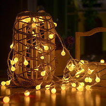 Litzee - Guirnalda luminosa con 80 luces LED, 8