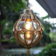 LITZEE - Lámpara colgante para exteriores con