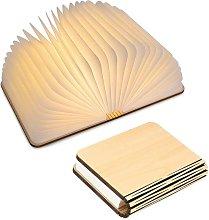Litzee - Lámpara de libro de madera LED, Lámpara