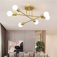 Litzee - Lámpara de techo vintage, 6 brazos
