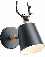 LITZEE LED apliques, aplique con astas negras