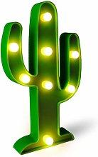 LITZEE LED luz de cactus, luz de decoración de