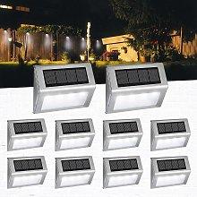 LITZEE Luces solares para jardín, 4 luces LED