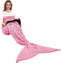 LITZEE Manta de cola de sirena, cálida manta para