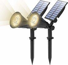 LITZEE [paquete de 2] reflector solar LED,