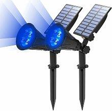 LITZEE Proyector solar LED, lámpara solar 2 en 1