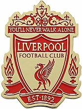 Liverpool FC - Imán para nevera con escudo dorado