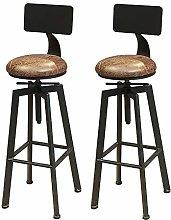 LIZIXH (2pcs) Taburetes Altas, sillas de Barra de