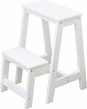 LJWJ Taburete Sillas Home Steps, Wooden Ladder