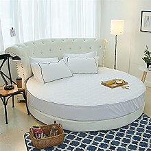 LMSDALAO Hotel redondo acolchado colchón cubierta