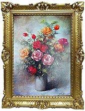 Lnxp Cuadro de 90 x 70 cm, flores P. Sorel, marco