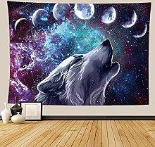 Lobo Tapiz Colgante de Pared Espacio Estrellado