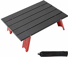 LOKOER Mini mesa de camping, portátil plegable de
