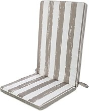 Lolahome - Cojín de exterior para silla gris de