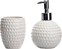 Lolahome - Set de 2 accesorios de baño de