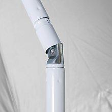 Lolahome - Sombrilla playa parasol naranja acero