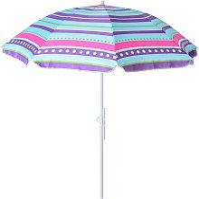 Lolahome - Sombrilla playa parasol rosa de acero