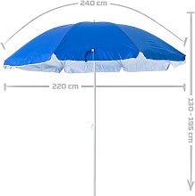 Lolahome - Sombrilla playa plegable azul nylon de