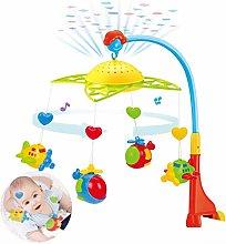 lossomly Móvil musical para bebé, juguete móvil