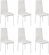 Lote 6 sillas ROMANE negras para comedor blanco