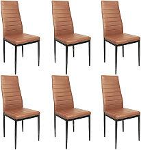 Lote 6 sillas ROMANE negras para comedor marrón