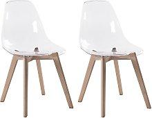 Lote de 2 sillas AUDRA - Policarbonato y madera de