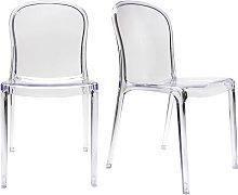 Lote de 2 sillas diseño transparente