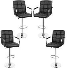 lote de 4 sillas de bar con apoyabrazos giratorios