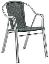 LOTE DE 4 x sillas hosteleria apilable aluminio