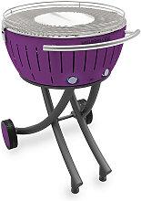 Lotus Grill - Barbacoa de carbón portátil lila