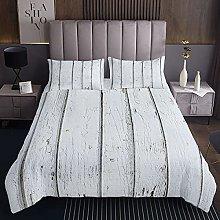 Loussiesd Juego de cama de madera acolchada para