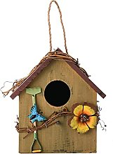 LPAYOK Casas de pájaros de madera para colgar