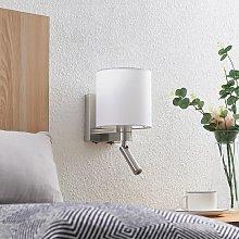 Lucande aplique Brinja, lámpara de lectura, blanco