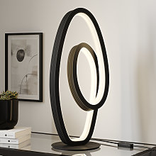 Lucande Bronwyn lámpara de mesa LED