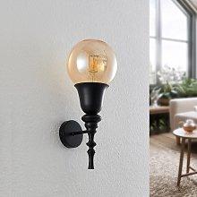 Lucande Gesja lámpara de pared, 1 luz, negro