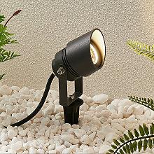 Lucande Meira foco exterior LED, IP65, gris oscuro