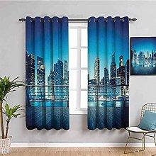 LucaSng Cortinas de Opacas - Azul Cielo Ciudad