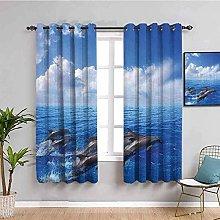 LucaSng Cortinas de Opacas - Azul Cielo océano